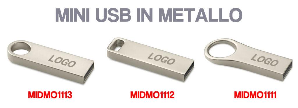 USB MINI IN METALLO