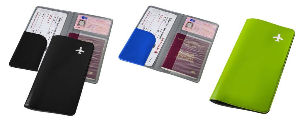 Porta documenti passaporto carta imbarco viaggio