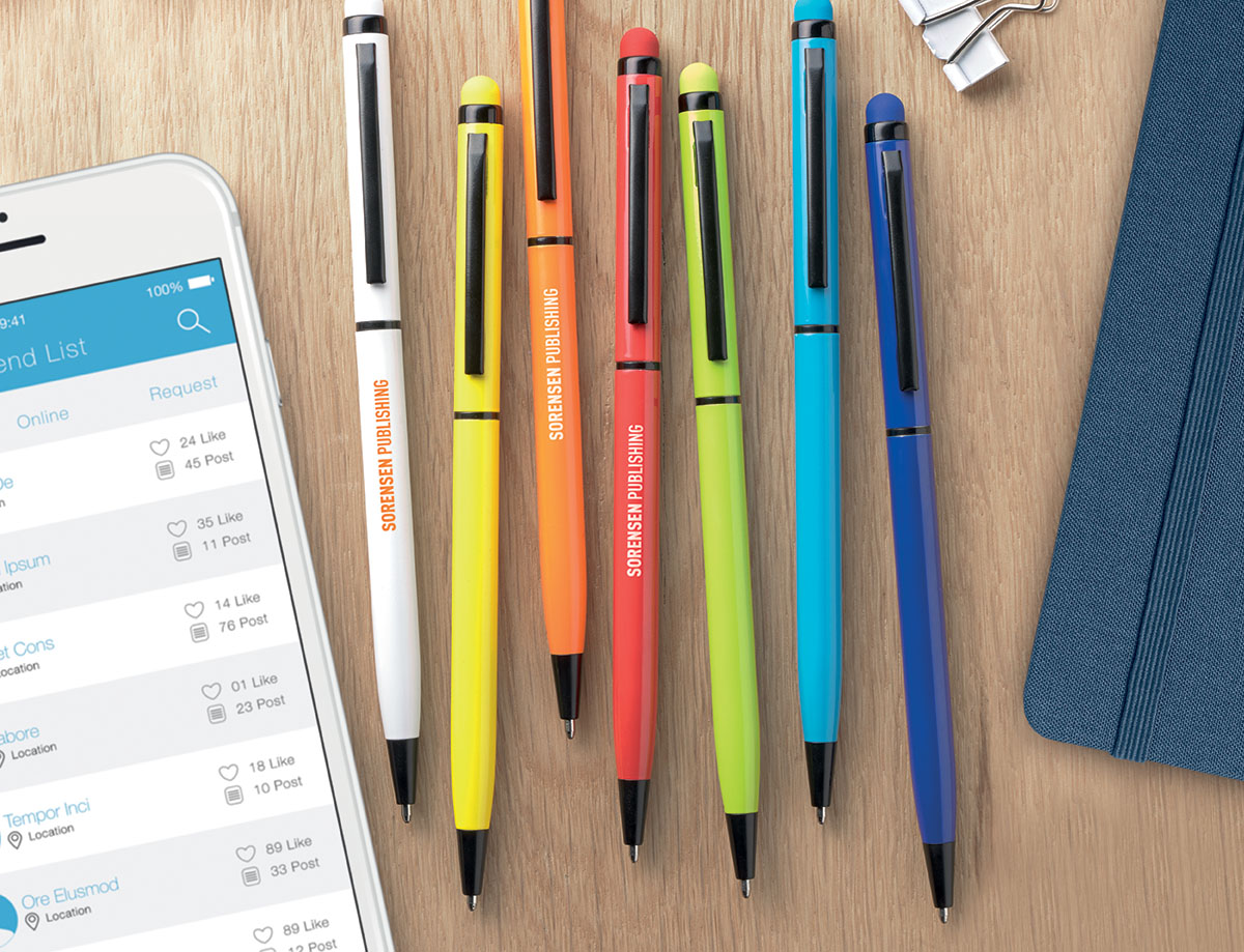 Penna touch screen con meccanismo twist