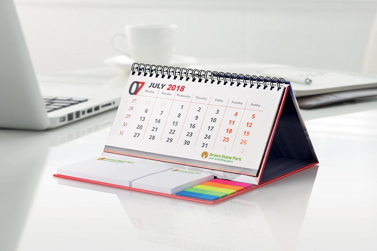 Calendario da scrivania 2018 mm immagine - Calendari da tavolo 2018 ...