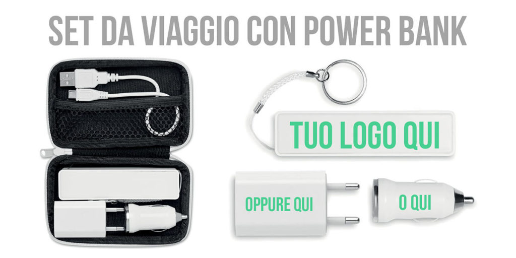 SET DA VIAGGIO POWER BANK MIDMO8412