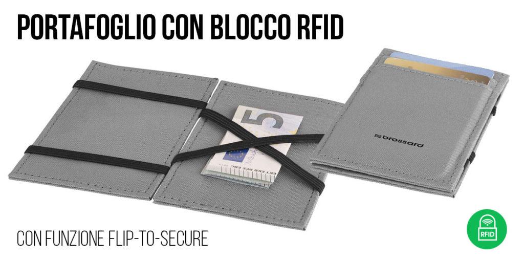 PORTAFOGLIO CON BLOCCO RFID