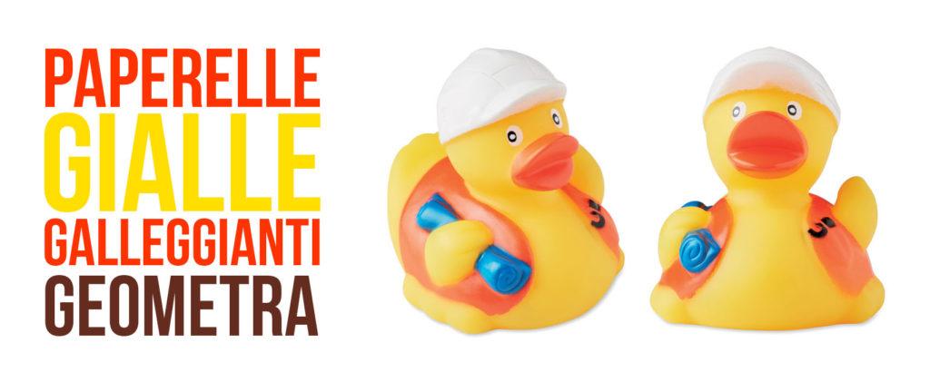PAPERELLE GIALLE DA BAGNO - GEOMETRA