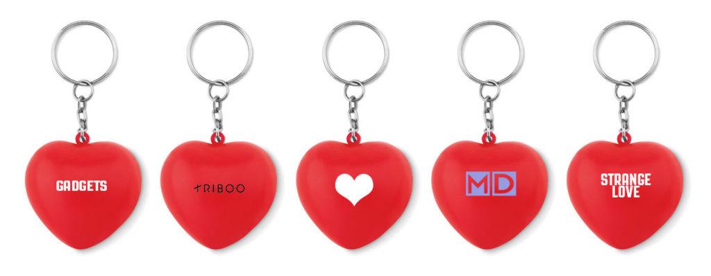 portachiavi personalizzabili a forma di cuore