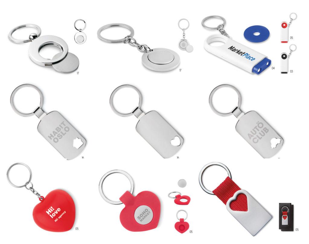 Portachiavi in metallo personalizzati