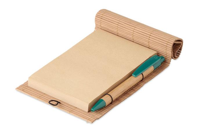 Gadget Ecologici Personalizzati Blocco appunti in bambù