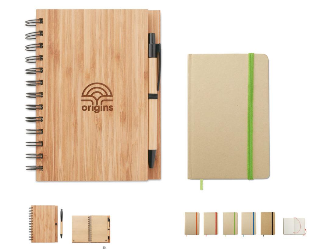 Blocchi appunti con copertina in legno o carta riciclata