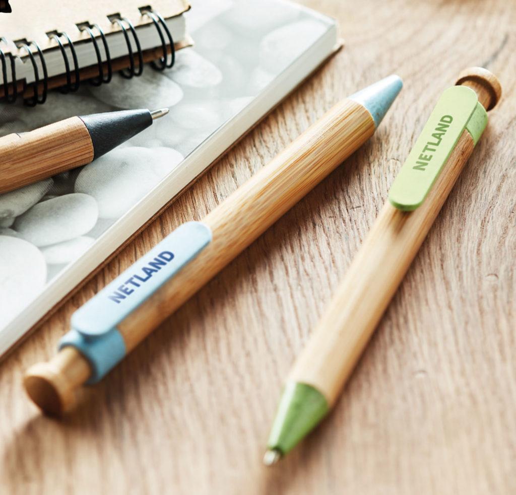 Gadget Ecologici Personalizzati penne ecologiche in legno