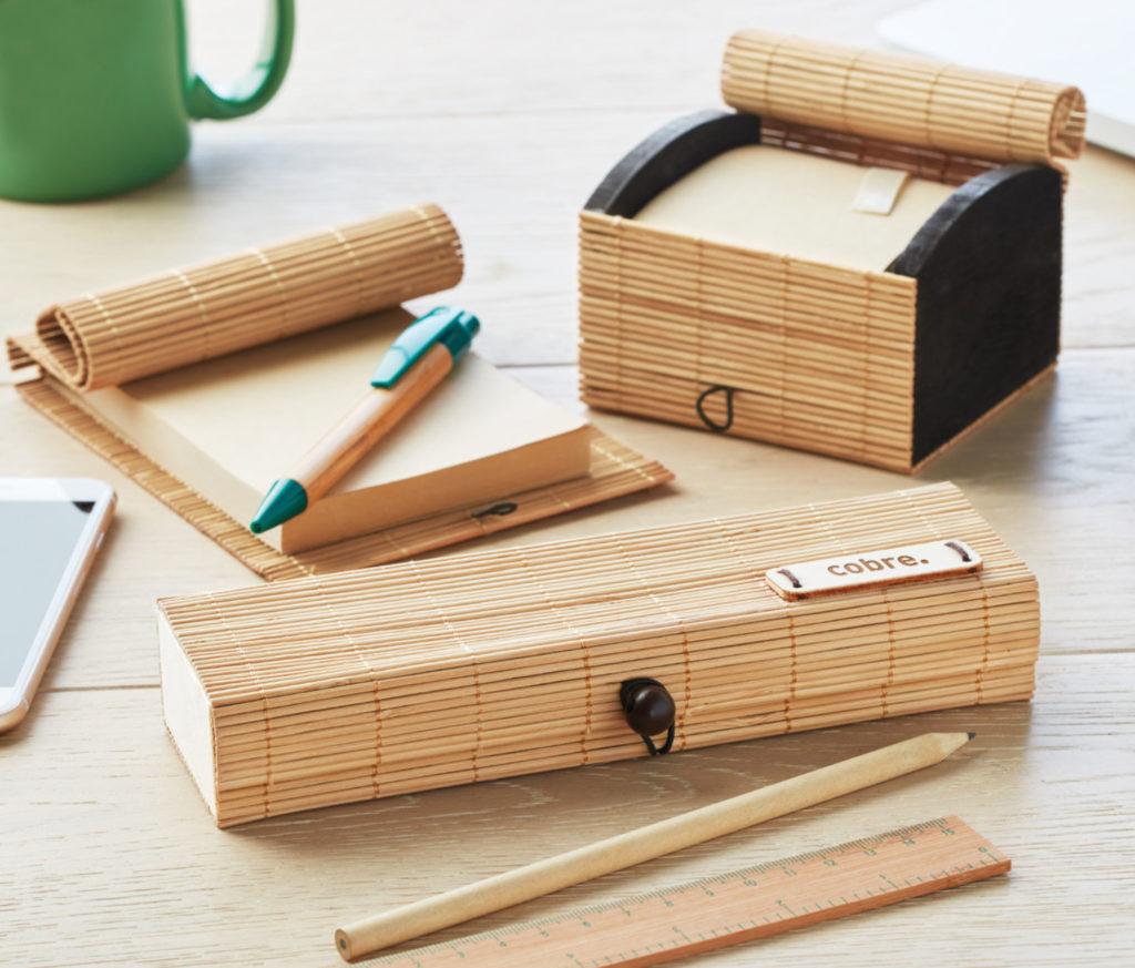 Gadget Ecologici Personalizzati Set ufficio ecologico in legno