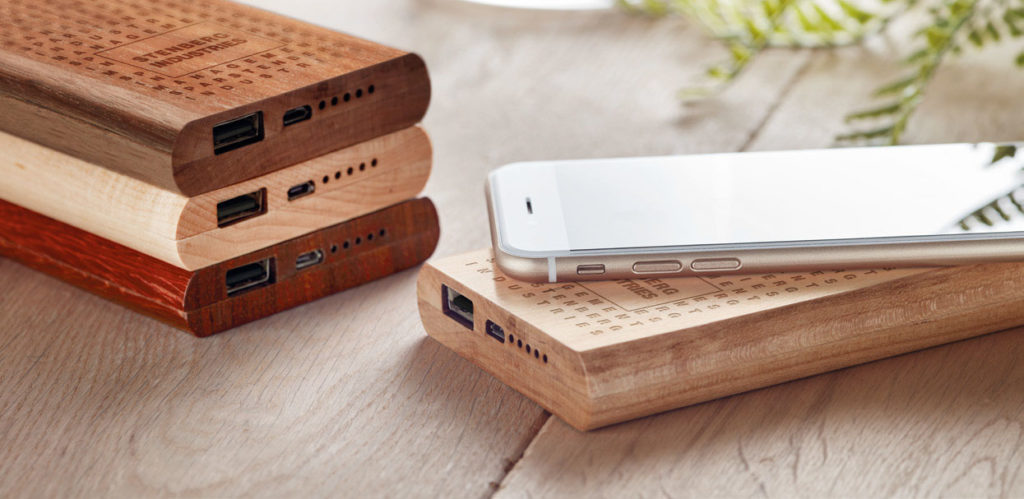 Power Bank personalizzati in legno