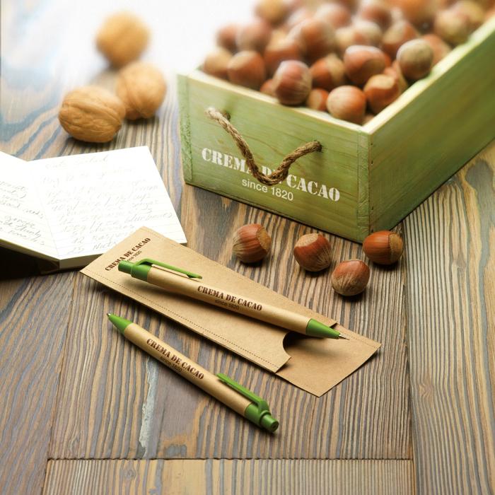 Gadget Ecologici Personalizzati Set matita e penna in carta riciclata