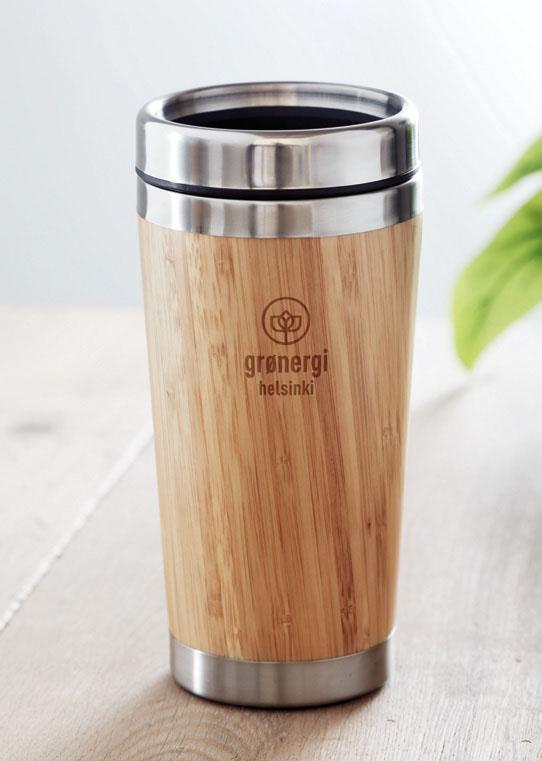 Gadget Ecologici Personalizzati bicchiere termico in legno