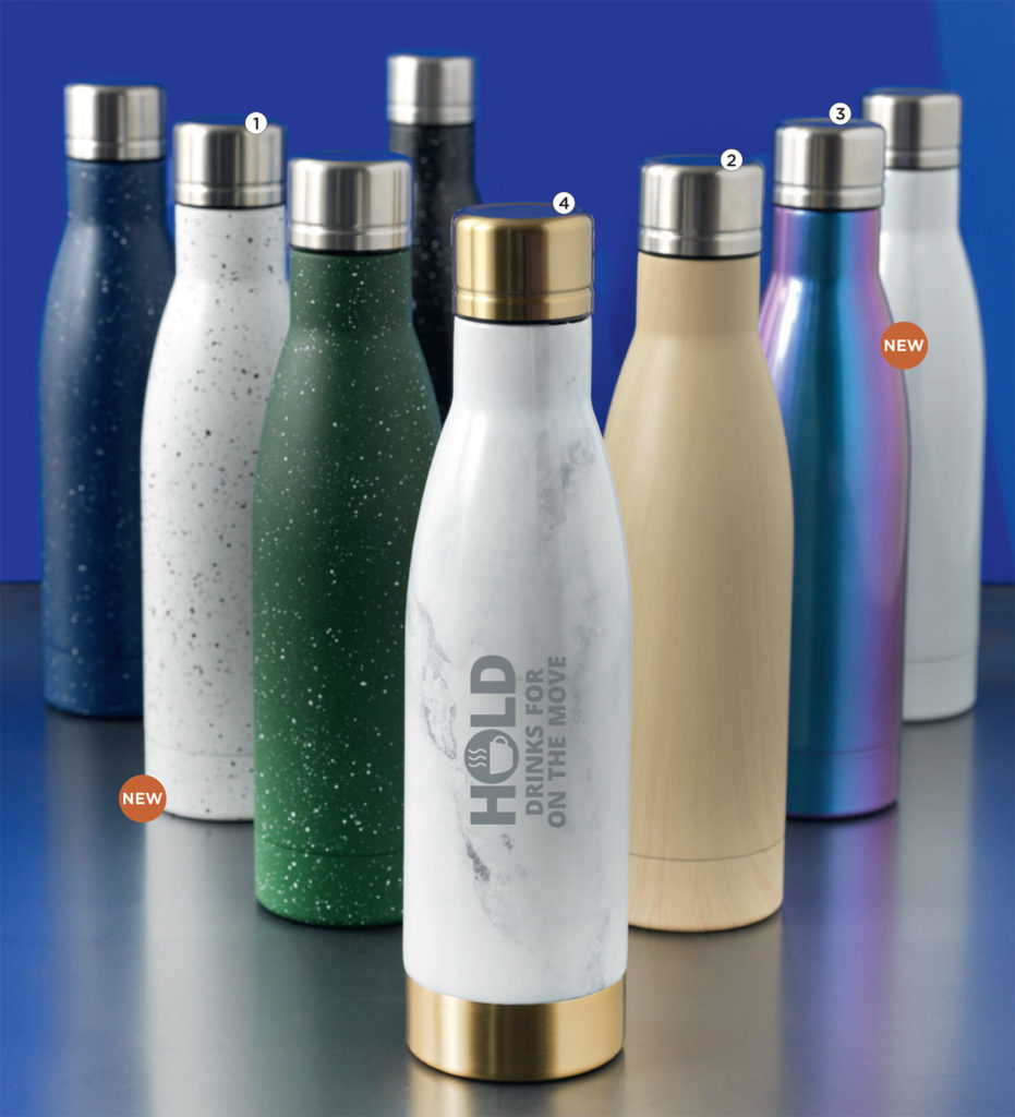 Gadget natalizi personalizzati, borracce metallo termiche