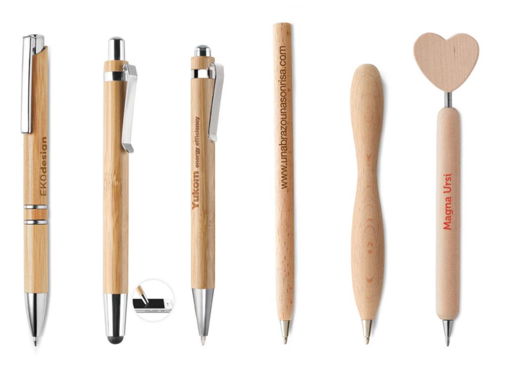 Penne in legno Personalizzate con logo