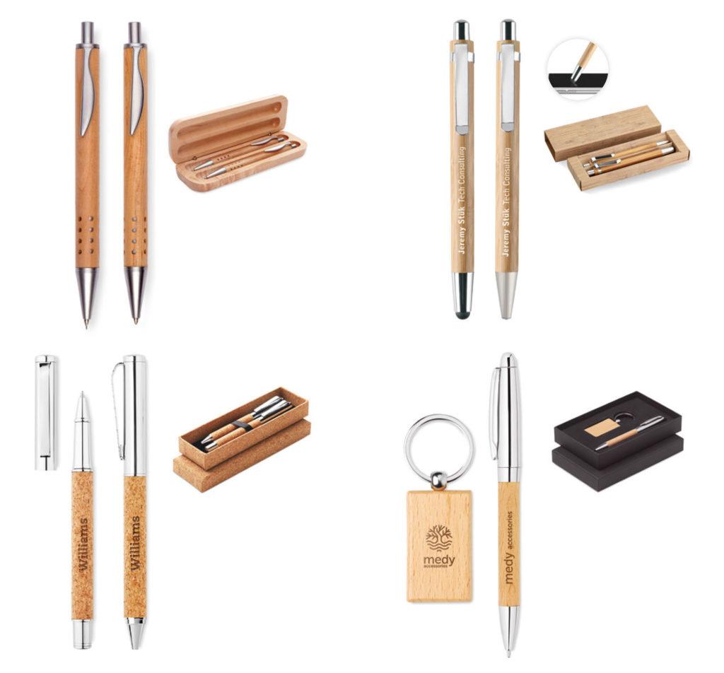 penne in legno e sughero personalizzate
