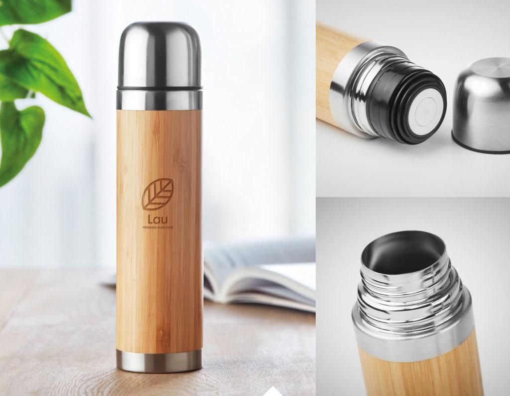 thermos in legno personalizzato