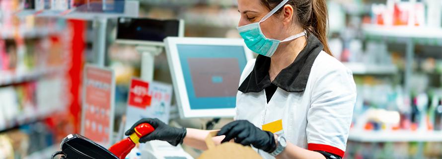 Mascherine chirurgiche per posto di lavoro