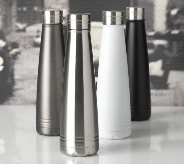 elegante bottiglia termica in metallo