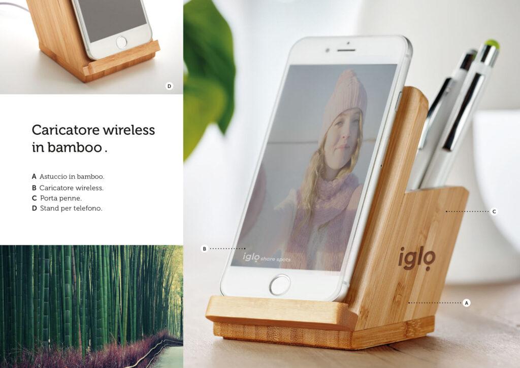 Gadget personalizzati di Fine Anno 2020 CARICABATTERIE WIRELESS MIDMO9914