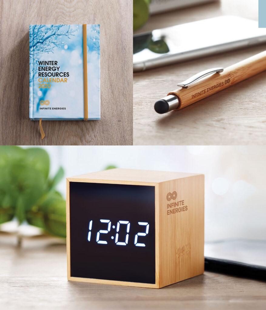 Orologio da tavolo in legno personalizzato